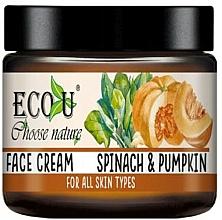Düfte, Parfümerie und Kosmetik Feuchtigkeitsspendende Gesichtscreme Spinat und Kürbis - Eco U Pumpkins And Spinach Face Cream