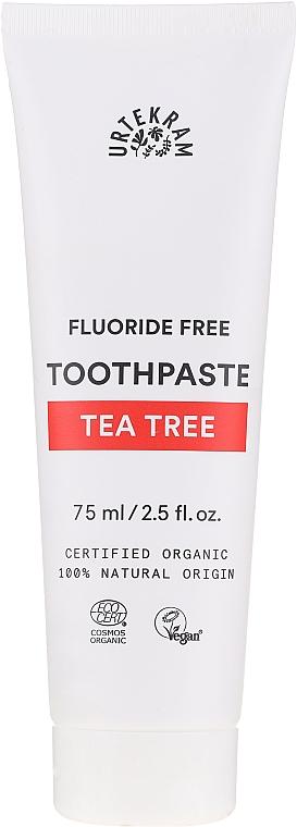 Organische Zahnpasta mit besonders hoher Desinfektionswirkung und Teebaum - Urtekram Toothpaste Tea Tree
