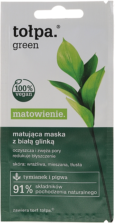 Mattierende Gesichtsmaske - Tolpa Green Mask