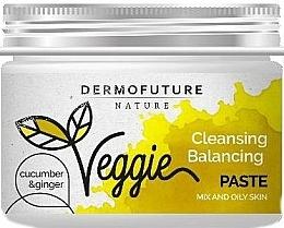 Düfte, Parfümerie und Kosmetik Reinigende Gesichtspaste für fettige und gemischte Haut mit Gurke, Ingwer und weißem Ton - DermoFuture Ginger & Cucumber Pasta