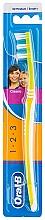 Düfte, Parfümerie und Kosmetik Zahnbürste mittel 1 2 3 Classic gelb - Oral-B 1 2 3 Classic 40 Medium