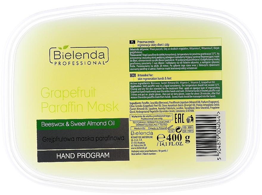 Paraffinmaske für Hände, Gesicht und Dekolleté mit Grapefruit, Bienenwachs und Mandelöl - Bielenda Professional Grapefruit Paraffin Mask Beeswax & Almond Oil