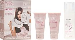 Düfte, Parfümerie und Kosmetik Haarpflegeset mit Keratin - Alfaparf Milano Lisse Design Keratin Therapy Smoothing Treatment Kit (Shampoo 40ml + Mousse 100ml + Haarmaske 40ml)