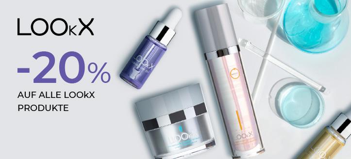 20% Rabatt auf alle LOOkX Produkte. Die Preise auf der Website sind inklusive Rabatt