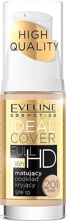 Langanhaltende mattierende Foundation LSF 10 - Eveline Cosmetics Ideal Cover Full HD SPF10