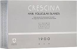 Düfte, Parfümerie und Kosmetik Anti-Haarausfall Ampullen für Männer 1900 - Crescina Hair Follicular Island Re-Growth + Anti-Hair Loss 1900 Man