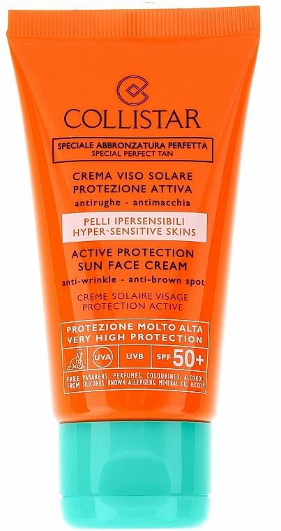 Aktiv schützende Sonnencreme für das Gesicht SPF 50+ - Collistar Active Protection Sun Face Cream SPF 50+