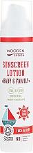 Düfte, Parfümerie und Kosmetik Wasserfeste Bio-Sonnenschutzlotion für Gesicht und Körper SPF 50 - Wooden Spoon Organic Sunscreen Lotion Baby & Family SPF 50
