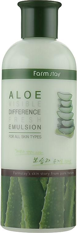 Erfrischende Gesichtsemulsion mit Aloe-Extrakt - FarmStay Visible Difference Fresh Emulsion Aloe
