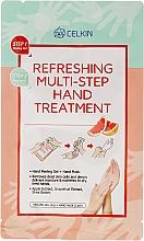 Düfte, Parfümerie und Kosmetik Efrischende 2-Schritt-Handpflege mit Apfel- und Grapefruitextrakt und Sheabutter - Celkin Refreshing Multi Step Hand Treatment