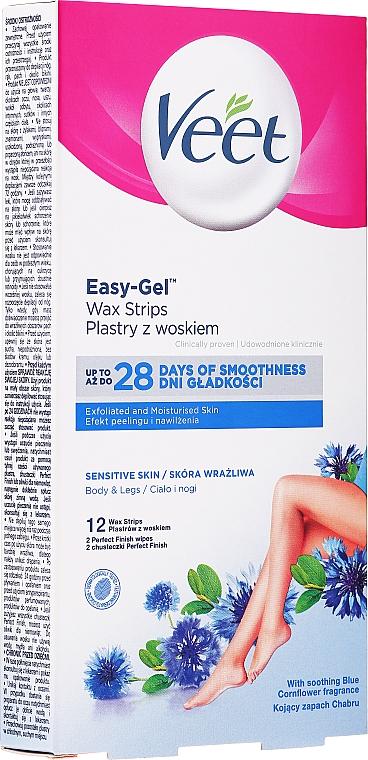 Enthaarungswachsstreifen für Beine und Körper mit Vitamin E und Mandelöl - Veet