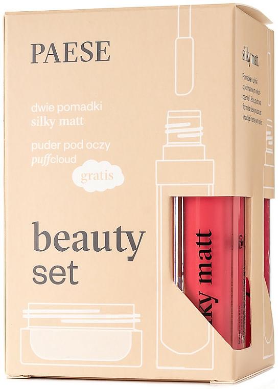 Make-up Set (Flüssiger Lippenstift 2x6ml + Augenpuder 5.3g) - Paese Beauty Set — Bild N1