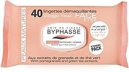 Düfte, Parfümerie und Kosmetik Abschminktücher mit Granatapfel und grünem Tee - Byphasse Make-up Remover Pomegranate Extract And Green Tea