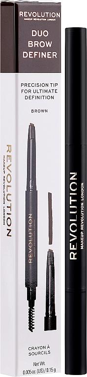 Augenbrauenstift - Makeup Revolution Duo Brow Pencil