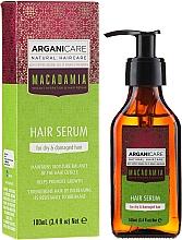Düfte, Parfümerie und Kosmetik Feuchtigkeitsspendendes Serum mit Argan- und Macadamiaöl für trockenes und strapaziertes Haar - Arganicare Macadamia Hair Serum for Dry & Damaged Hair