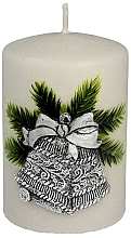Düfte, Parfümerie und Kosmetik Dekorative Kerze Christmas Bells, 7x10 cm - Artman Christmas Bells Candle Ø7xH10cm