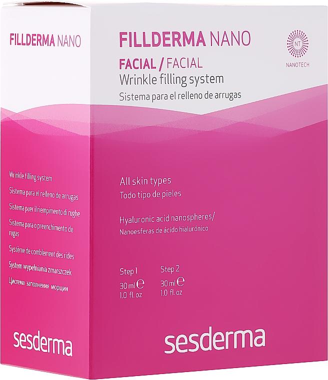 Anti-Falten Gesichtsbehandlung mit Hyaluronsäure in 2 Schritten - SesDerma Laboratories Fillderma nano Wrinkle Filling System — Bild N1