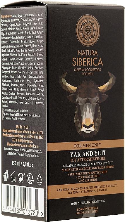 "After Shave Kühlgel ""Yak & Yeti"" - Natura Siberica"