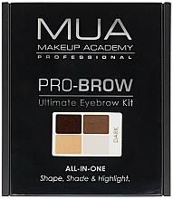 Düfte, Parfümerie und Kosmetik Augenbrauenset - MUA Pro-Brow Ultimate Eye Brow Kit