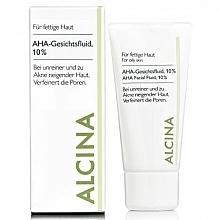 Düfte, Parfümerie und Kosmetik Porenverfeinerndes Gesichtsfluid mit 10% Fruchtsäuren für fettige, unreine und zu Akne neigende Haut - Alcina Fm Aha Fluid