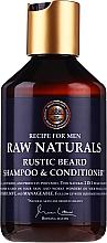 Düfte, Parfümerie und Kosmetik 2in1 Shampoo und Conditioner für Bart und Schnurrbart - Recipe For Men RAW Naturals Rustic Beard Shampoo & Conditioner