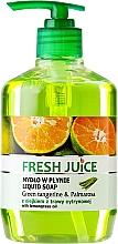 """Düfte, Parfümerie und Kosmetik Cremeseife mit Zitronengrasöl """"Grüne Mandarine & Palmarosa"""" mit Spender - Fresh Juice Green Tangerine & Palmarosa"""