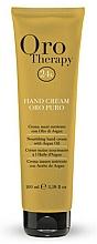 Düfte, Parfümerie und Kosmetik Nährende Handcreme mit Arganöl - Fanola Oro Therapy Hand Cream Oro Puro