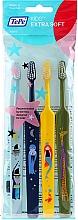 Düfte, Parfümerie und Kosmetik Kinderzahnbürste extra weich hellblau, blau, grün, gelb 4 St. - TePe Kids Extra Soft