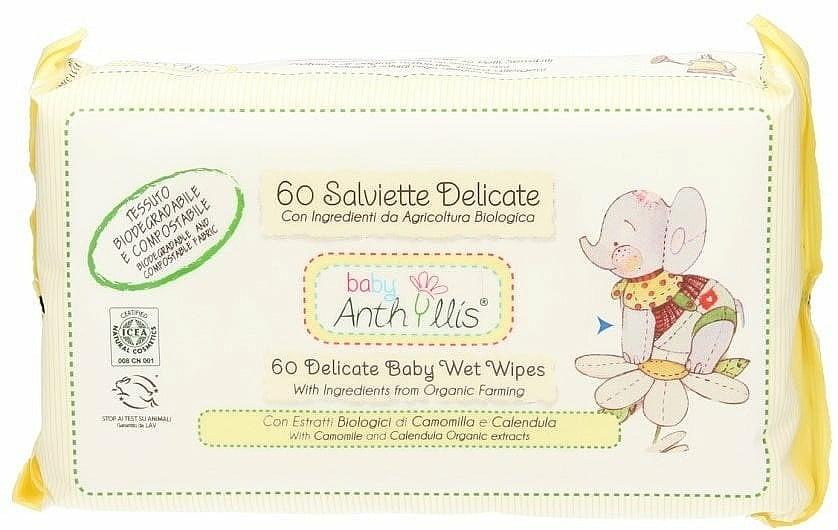 Feuchttücher für Babys 60 St. - Anthyllis Cleansing Wipes