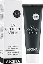 Düfte, Parfümerie und Kosmetik Gesichtspflege mit Sonnenschutz gegen Falten und Pigmentflecken - Alcina No1 UV Control Serum