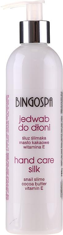 Seidige Handbutter mit Vitamin E und Schneckenextrakt - BingoSpa Silk For Hands