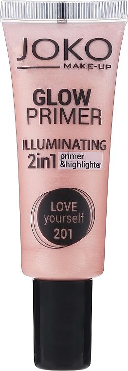 2in1 Make-up Base und Highlighter - Joko 2in1 Glow Primer
