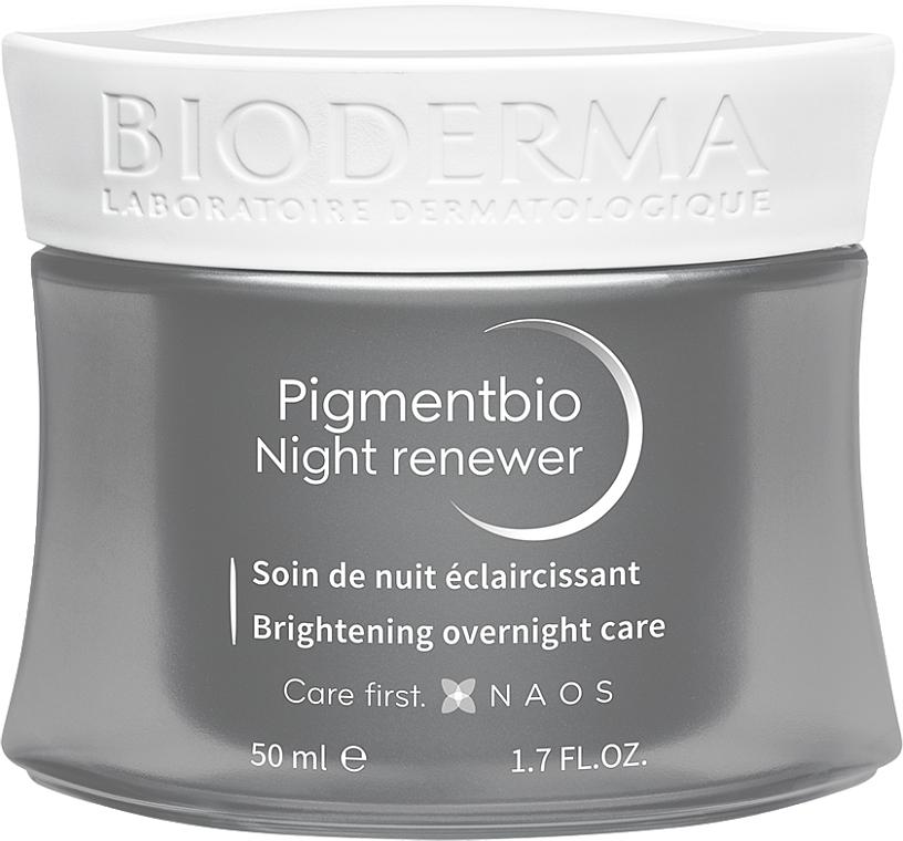 Aufhellende Nachtcreme für empfindliche Haut - Bioderma Pigmentbio Night Renewer Brightening Overnight Care