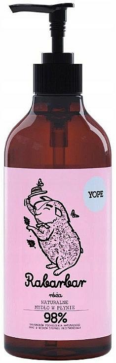 Natürliche Flüssigseife mit Rhabarber und Rose - Yope Rhubarb and Rose Natural Liquid Soap — Bild N1