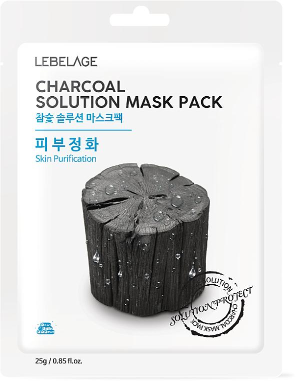 Reinigende Tuchmaske mit Aktivkohle - Lebelage Charcoal Solution Mask