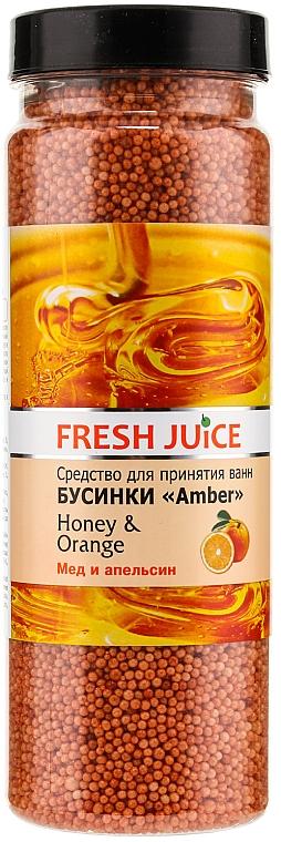 Badeperlen mit Honig und Orange - Fresh Juice Bath Bijou Amber Honey and Orange