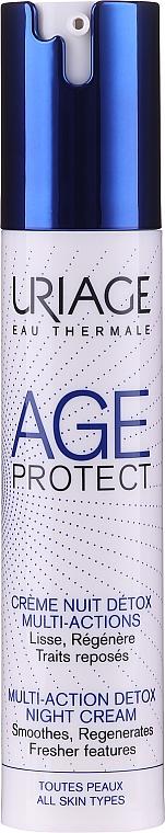 Regenerierende und glättende Detox Nachtcreme - Uriage Age Protect Multi-Action Detox Night Cream
