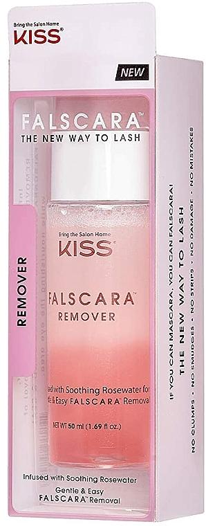 Entferner für Wimpernverlängerung mit Rosenwasser - Kiss Falscara Eyelash Remover — Bild N2