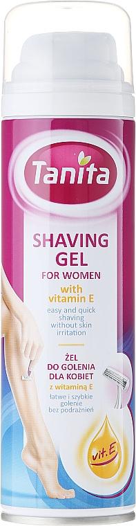 Rasiergel für Frauen mit Vitamin E - Tanita Body Care Shave Gel For Woman
