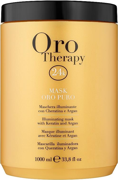 Regenerierende Haarmaske mit Arganöl - Fanola Oro Therapy Oro Puro Mask