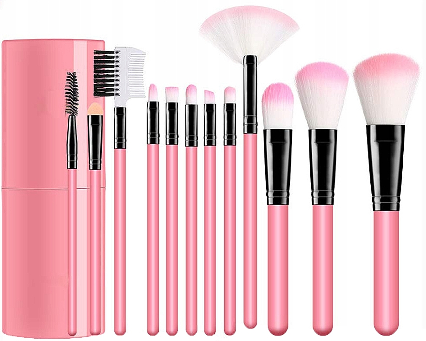 Make-up Pinselset in Etui rosa - Lewer