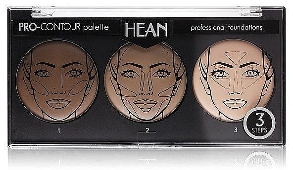Konturierpalette mit 3 Farben - Hean Pro-Countour Palette