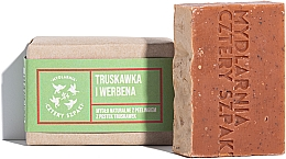 Düfte, Parfümerie und Kosmetik Natürliche Peelingseife mit Erdbeersamen und Verbene - Cztery Szpaki Soap