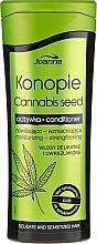 Stärkende und feuchtigkeitsspendende Haarspülung mit Hanfsamenextrakt und Kokosöl - Joanna Cannabis Seed Moisturizing-Strengthening Conditioner — Bild N1