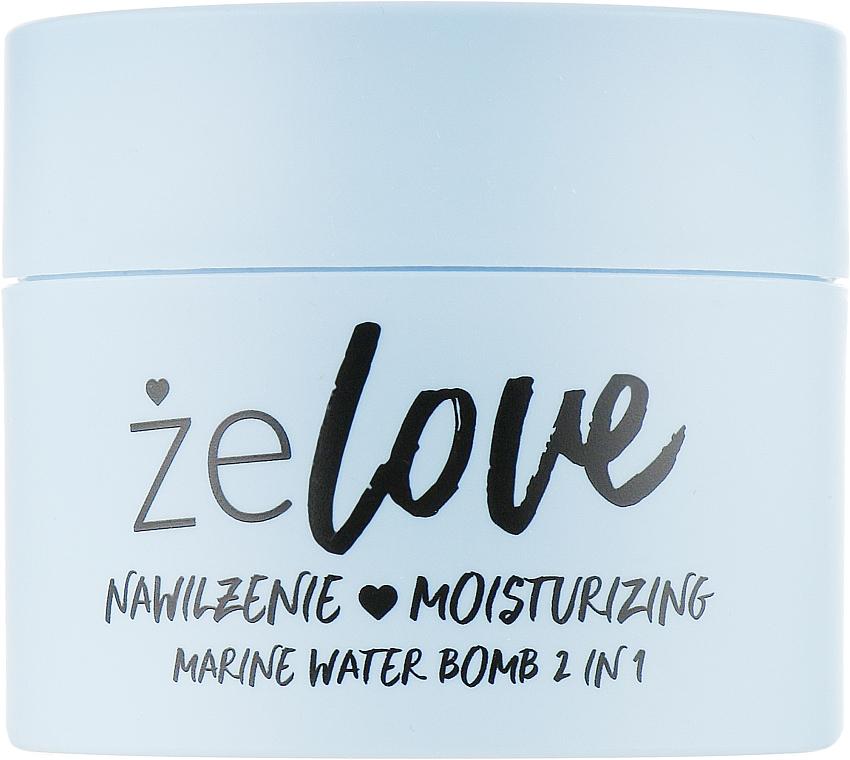 2in1 Feuchtigkeitsspendendes Gel für Gesicht, Hals und Dekolleté mit Meerwasser - FlosLek ZeLove Moisturizing Marine Water Bomb 2in1