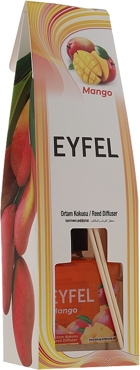 Raumerfrischer Mango - Eyfel Perfume Mango Reed Diffuser