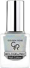 Düfte, Parfümerie und Kosmetik Nagellack - Golden Rose Holographic Nail Colour