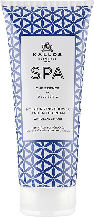 Feuchtigkeitsspendende Dusch- und Badecreme mit Algenextrakten - Kallos Cosmetics SPA Moisturizing Shower and Bath Cream With Algae Extract