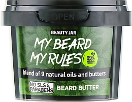 Düfte, Parfümerie und Kosmetik Bartbutter mit 9 natürlichen Ölen - Beauty Jar My Beard My Rules Beard Butter