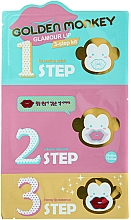 Düfte, Parfümerie und Kosmetik Lippenpflege-Set - Holika Holika Golden Monkey Glamour Lip 3-Step Kit